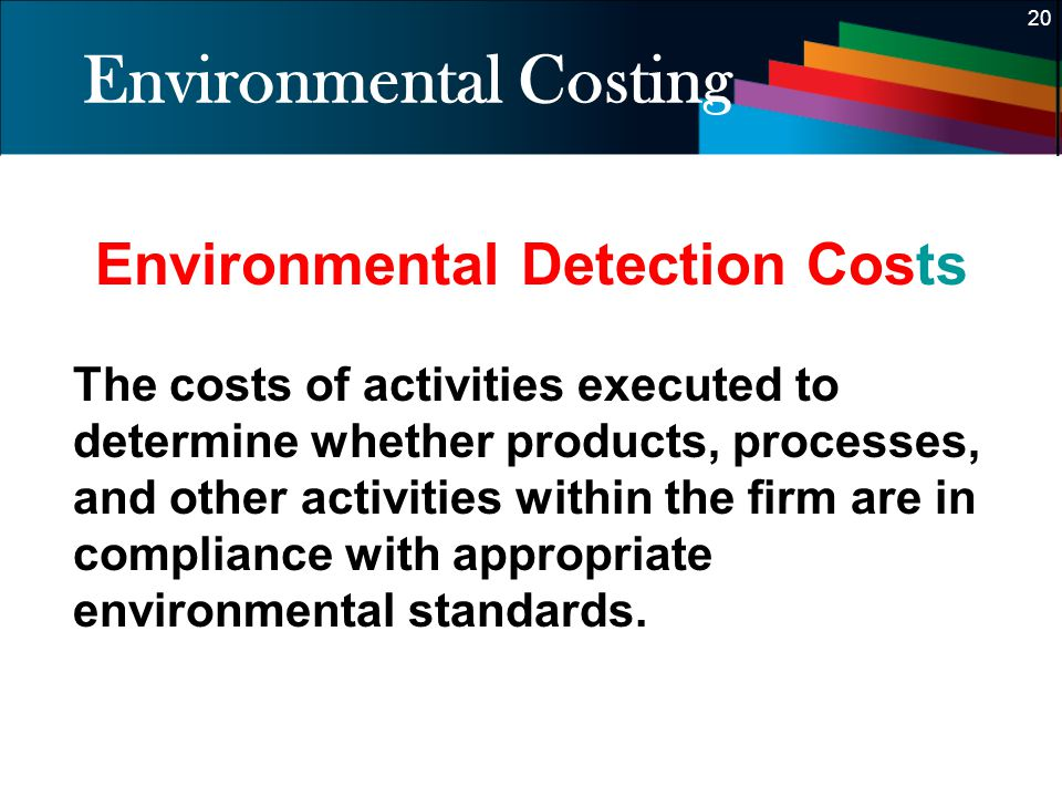 Environmental Costing