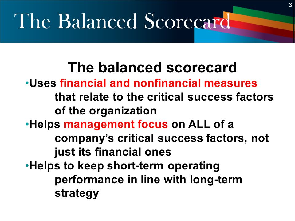 The Balanced Scorecard
