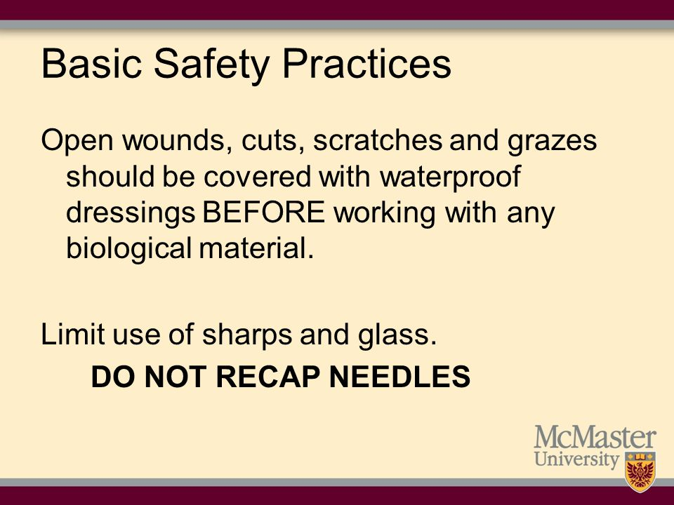 Basic Safety Practices