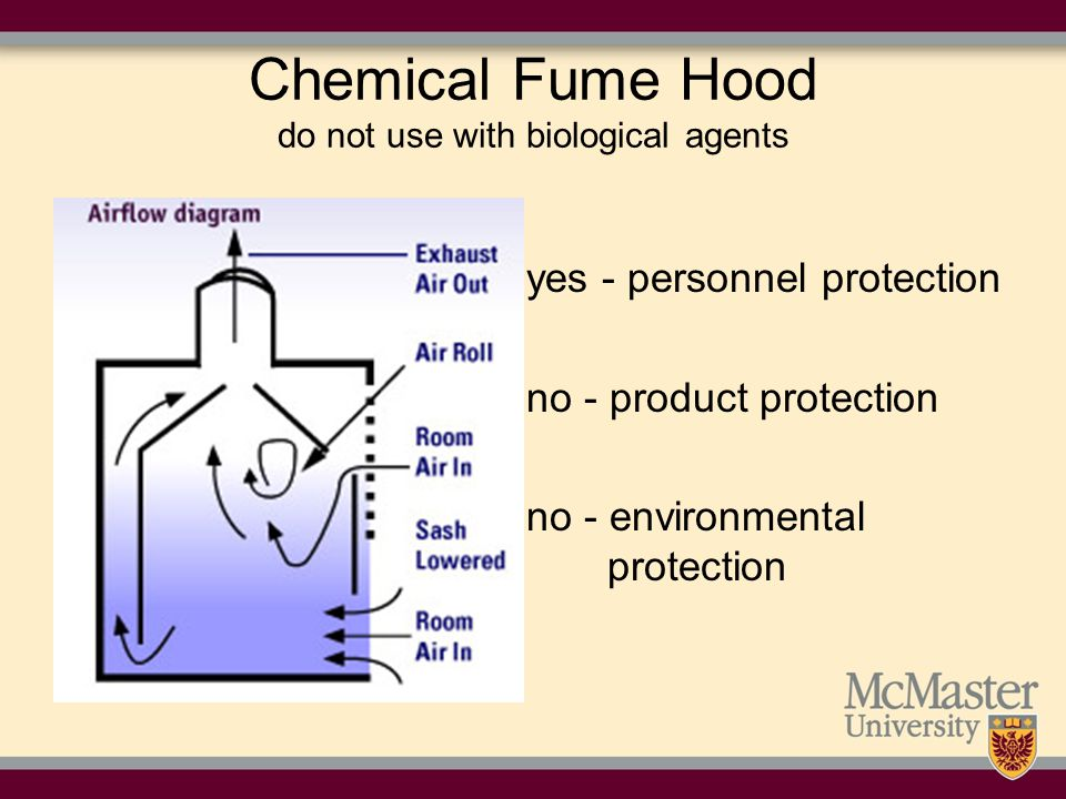 Chemical Fume Hood do not use with biological agents