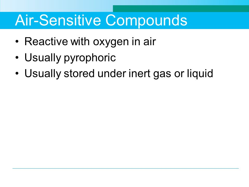 Air-Sensitive Compounds