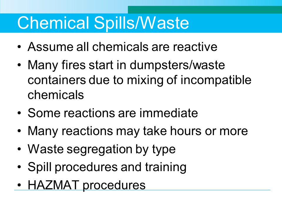 Chemical Spills/Waste