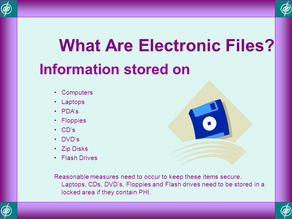 What Are Electronic Files
