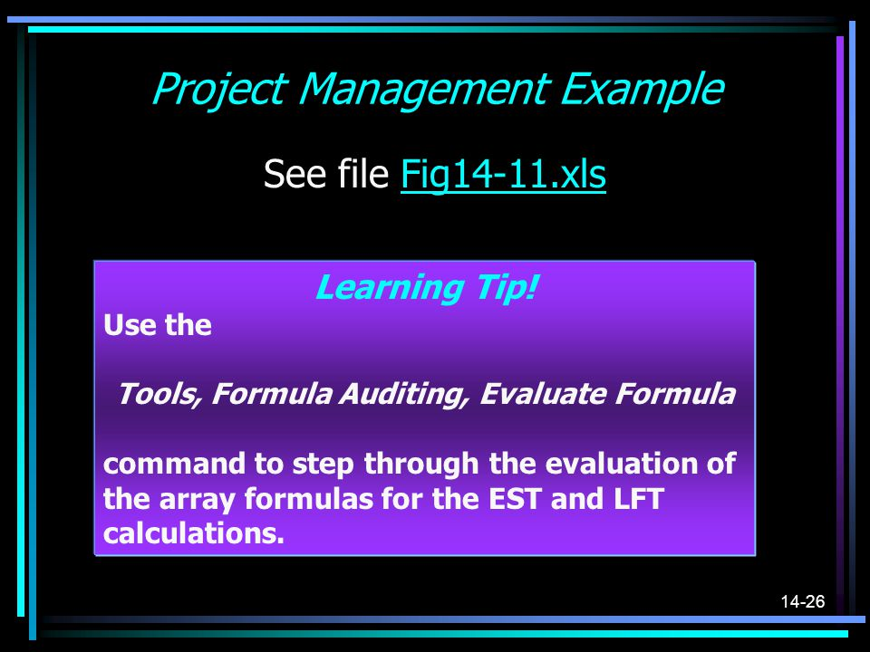 Project Management Example