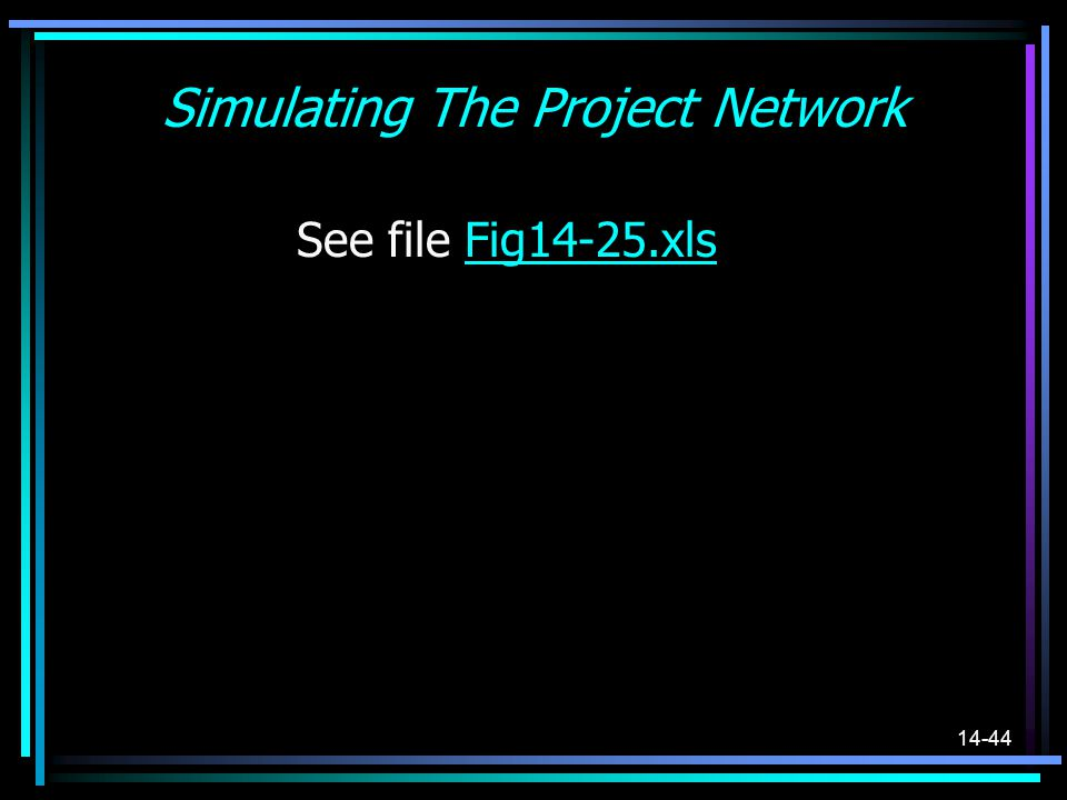 Simulating The Project Network