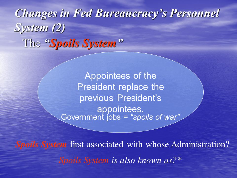 Changes in Fed Bureaucracy's Personnel System (2)