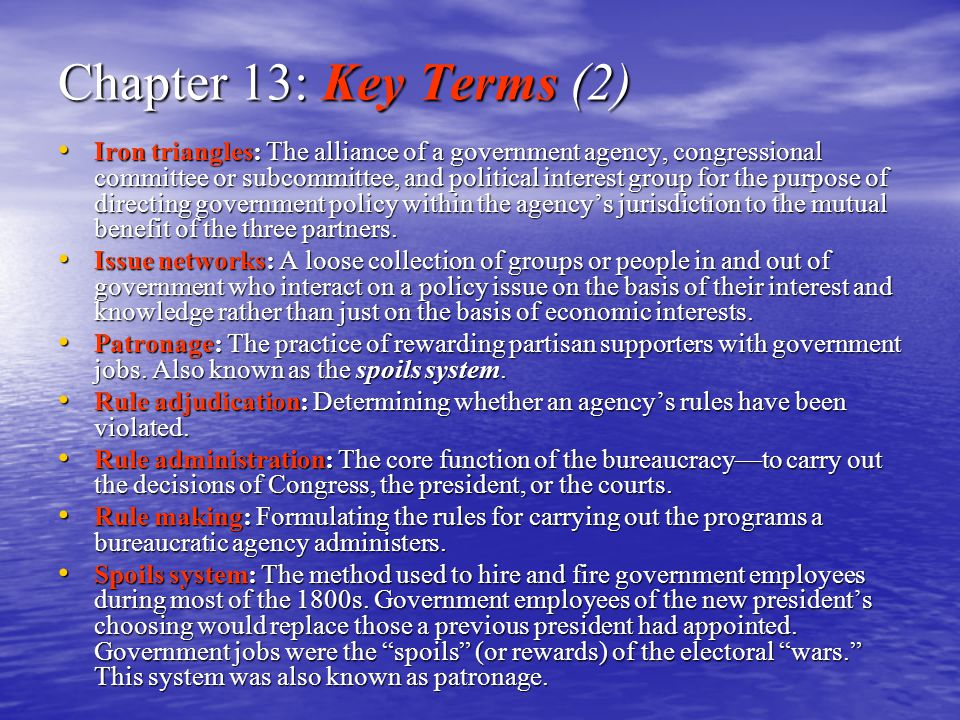 Chapter 13: Key Terms (2)
