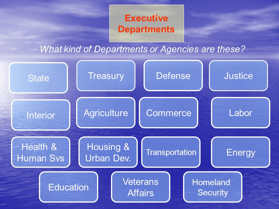What kind of Departments or Agencies are these
