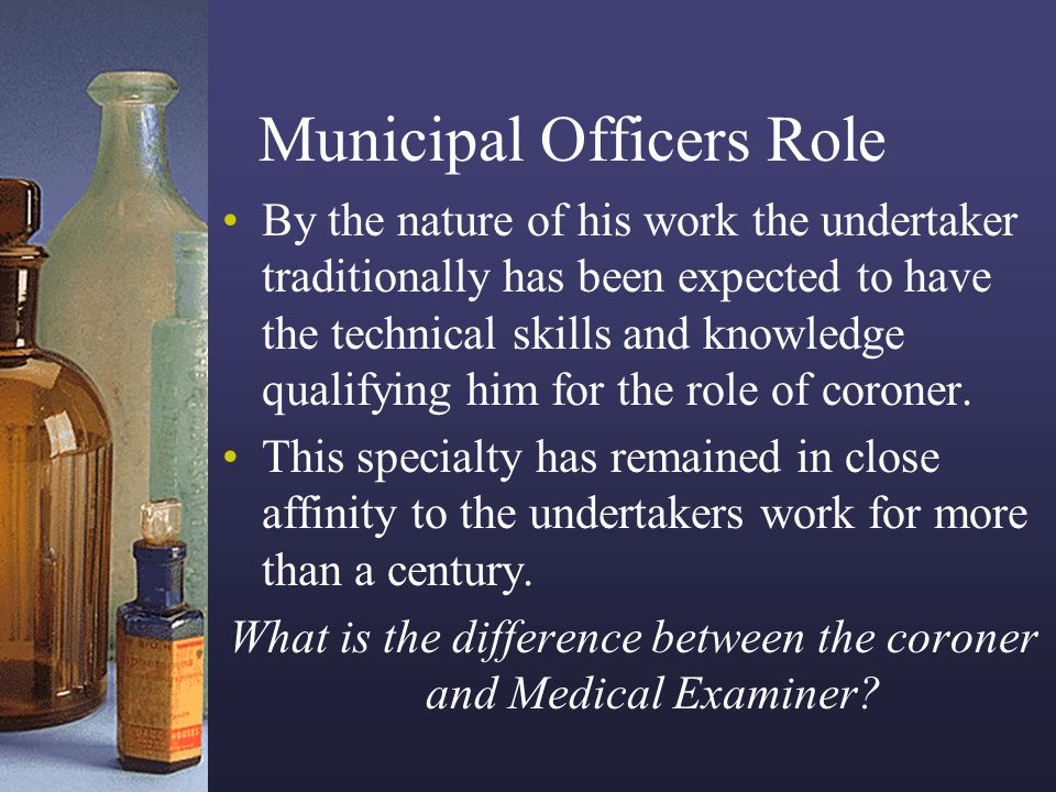 Municipal Officers Role