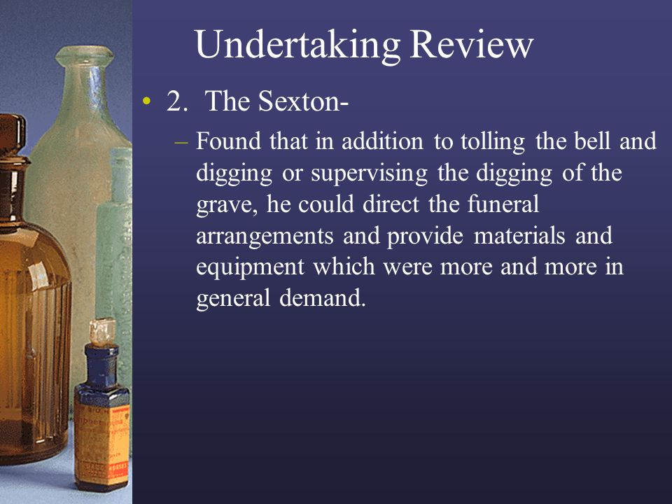 Undertaking Review 2. The Sexton-