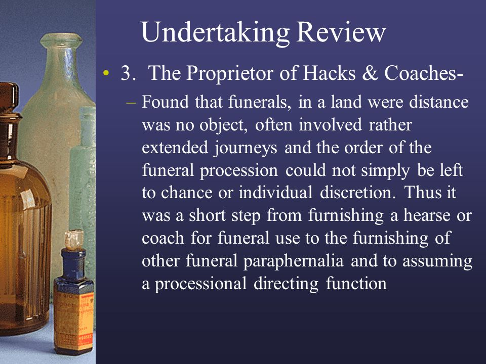 Undertaking Review 3. The Proprietor of Hacks & Coaches-