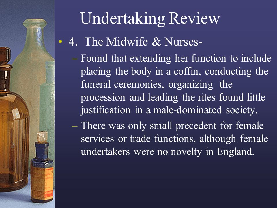 Undertaking Review 4. The Midwife & Nurses-