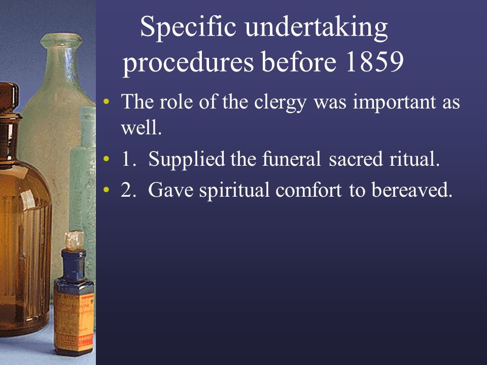 Specific undertaking procedures before 1859