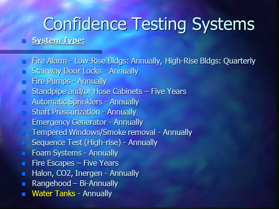 Confidence Testing Systems