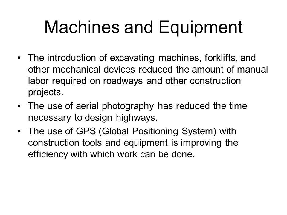 Machines and Equipment