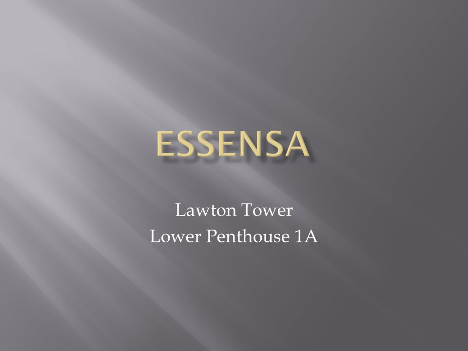 Lawton Tower Lower Penthouse 1A