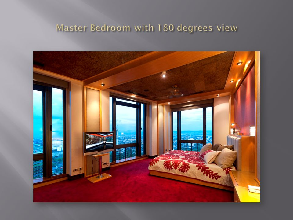 Master Bedroom with 180 degrees view