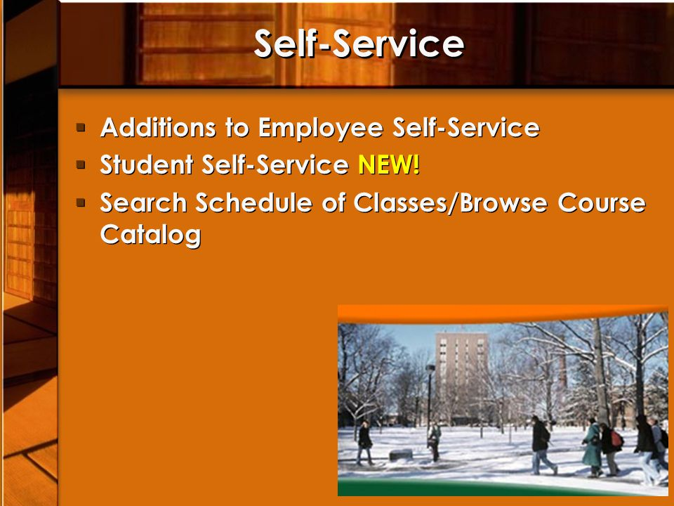Self-Service Additions to Employee Self-Service