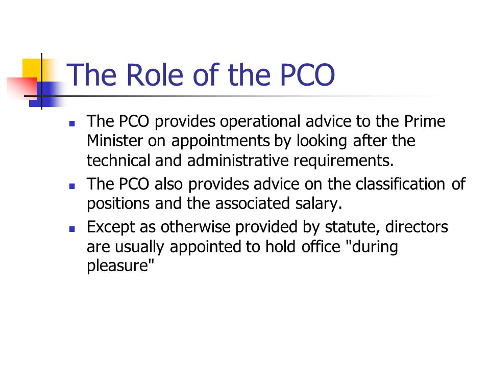 The Role of the PCO