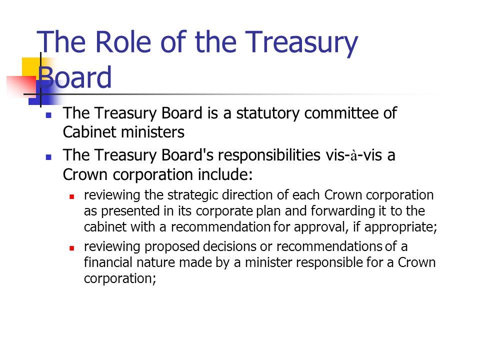 The Role of the Treasury Board