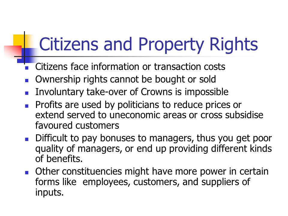 Citizens and Property Rights