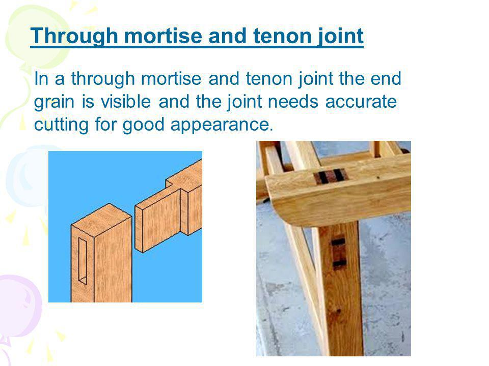 Through mortise and tenon joint