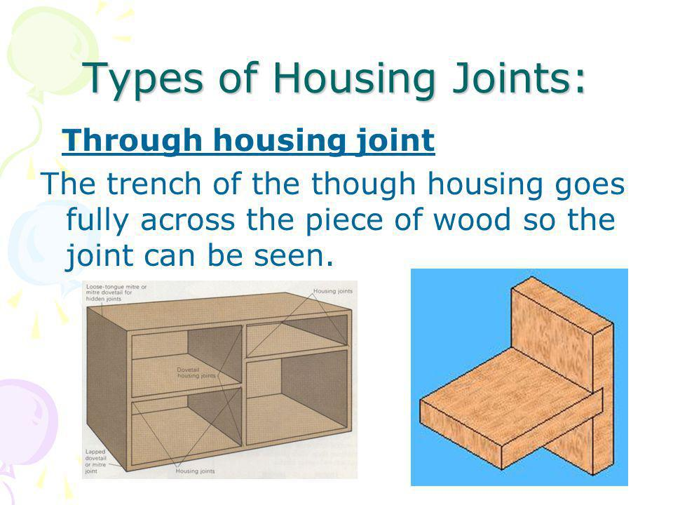 Types of Housing Joints: