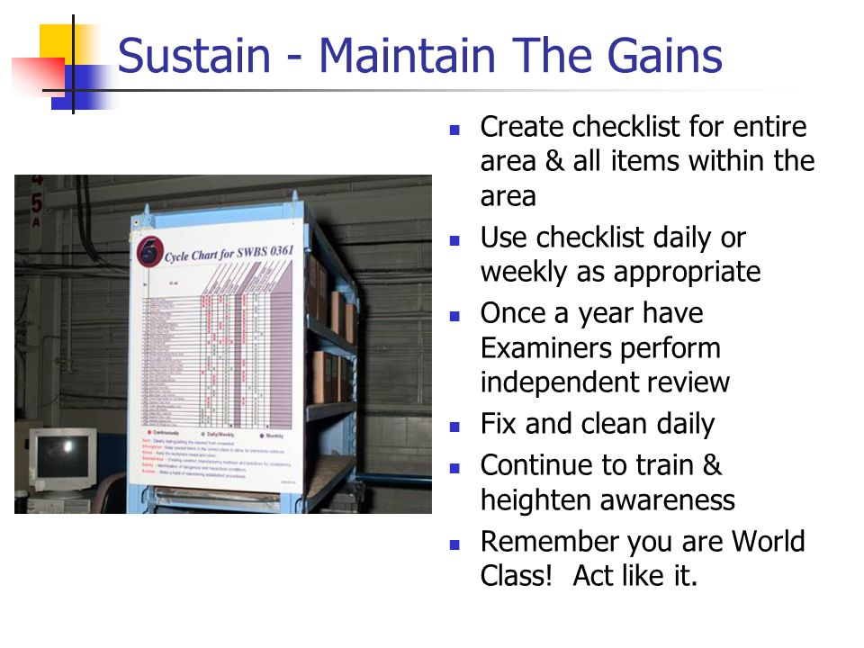 Sustain - Maintain The Gains
