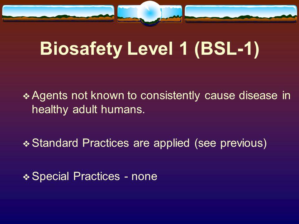 Biosafety Level 1 (BSL-1)