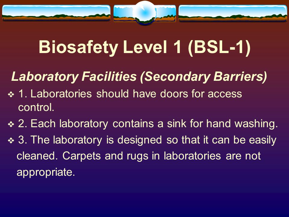 Biosafety Level 1 (BSL-1)