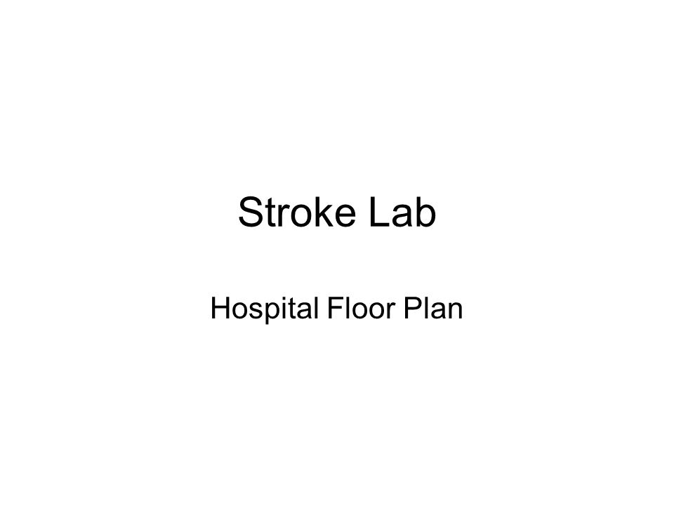 Stroke Lab Hospital Floor Plan