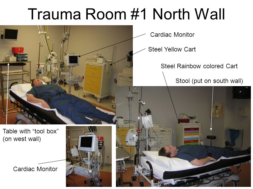 Trauma Room #1 North Wall