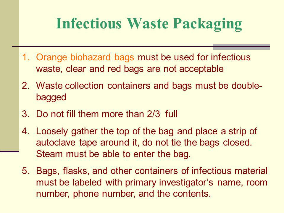 Infectious Waste Packaging