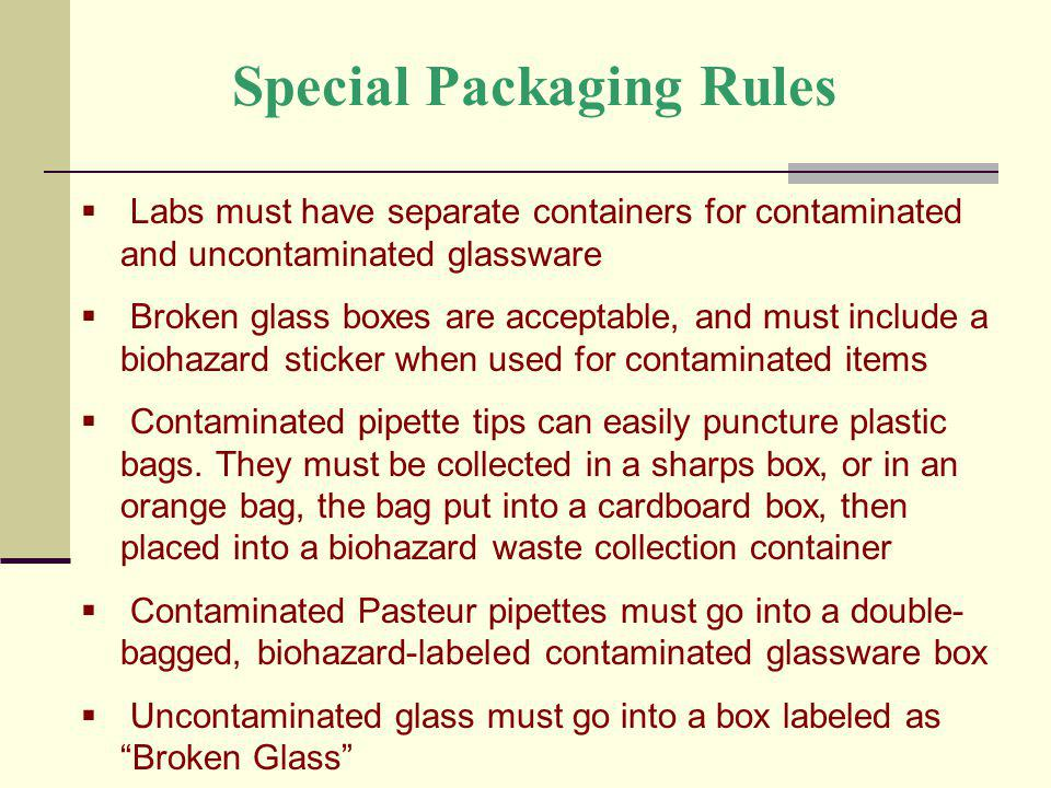 Special Packaging Rules