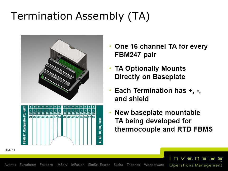 Termination Assembly (TA)
