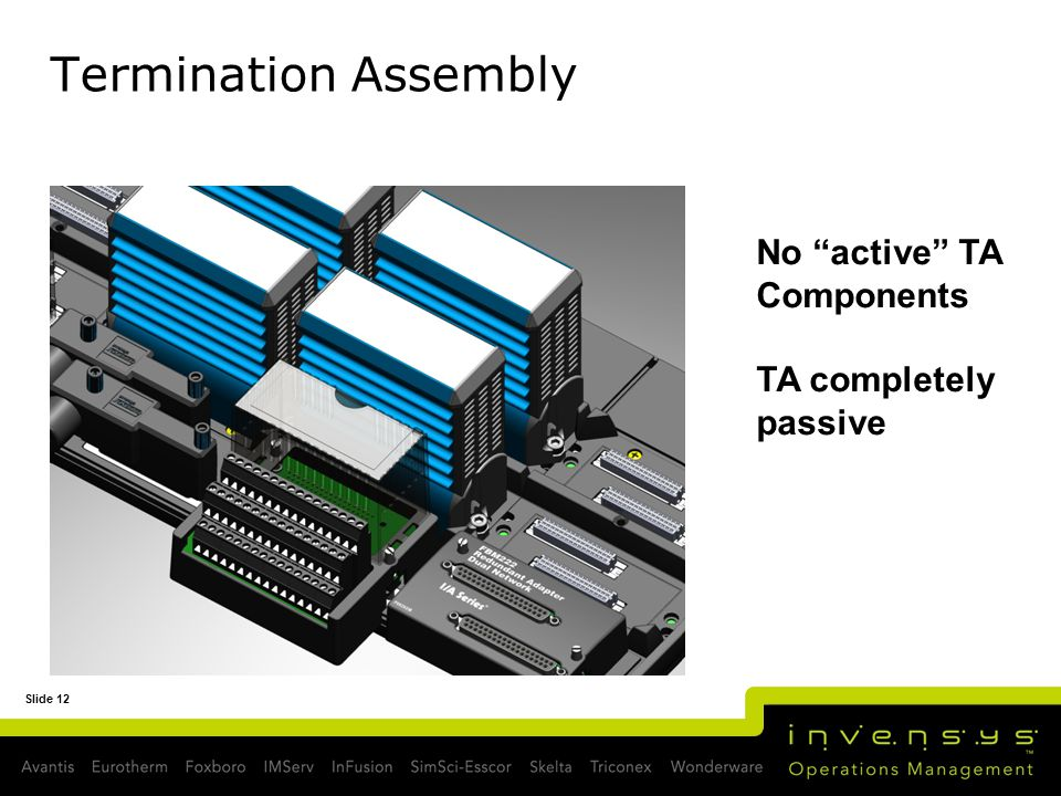 Termination Assembly No active TA Components TA completely passive