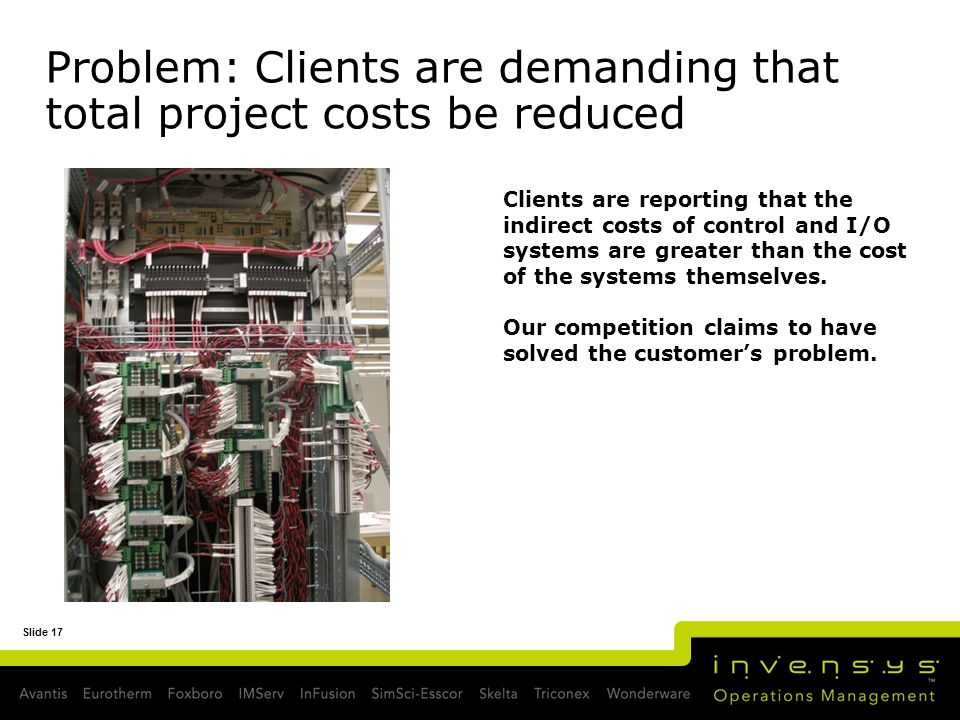 Problem: Clients are demanding that total project costs be reduced