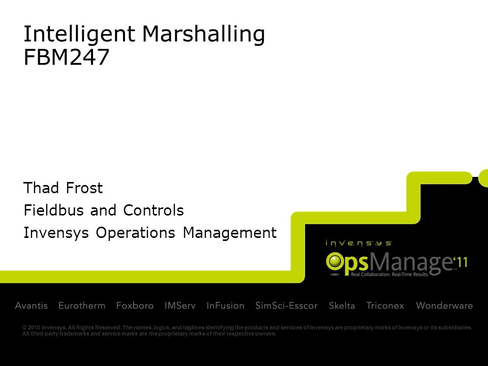 Intelligent Marshalling FBM247