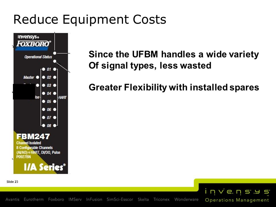 Reduce Equipment Costs