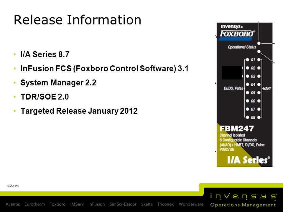 Release Information I/A Series 8.7