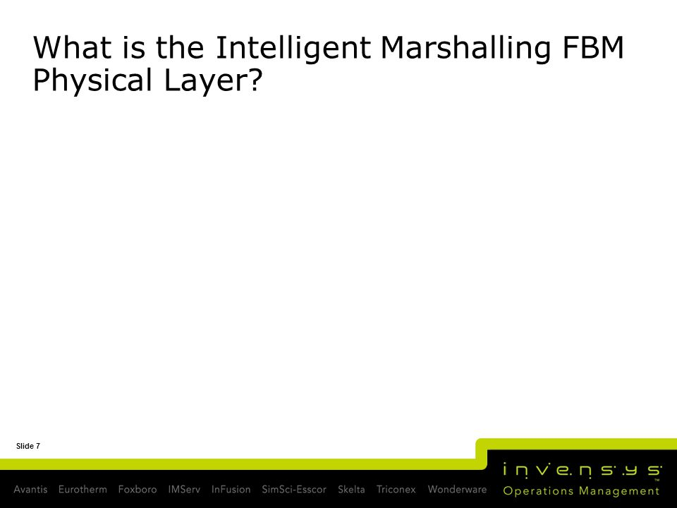 What is the Intelligent Marshalling FBM Physical Layer