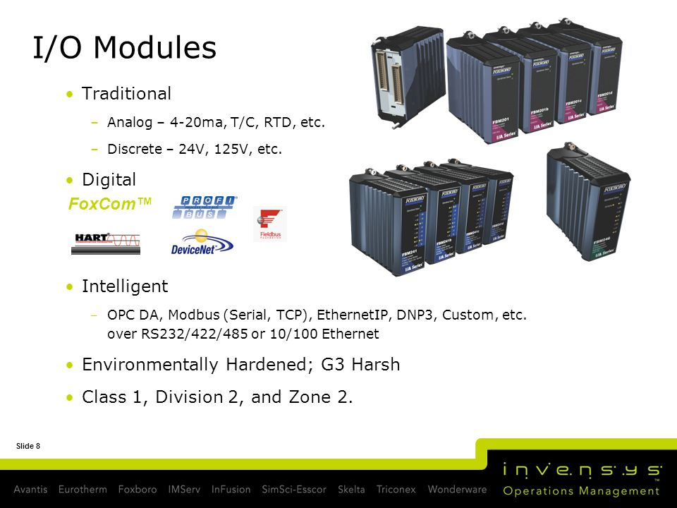 I/O Modules Traditional Digital Intelligent FoxCom™