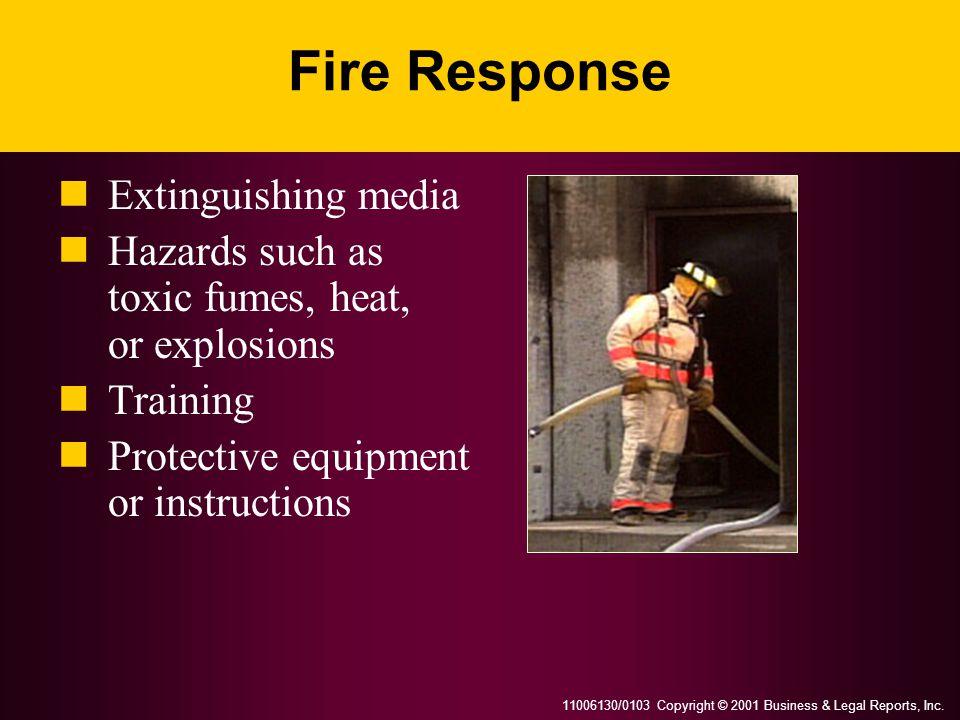 Fire Response Extinguishing media