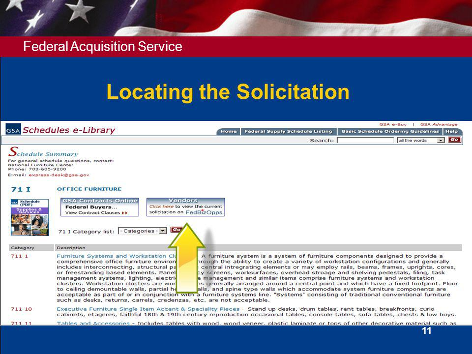 Locating the Solicitation