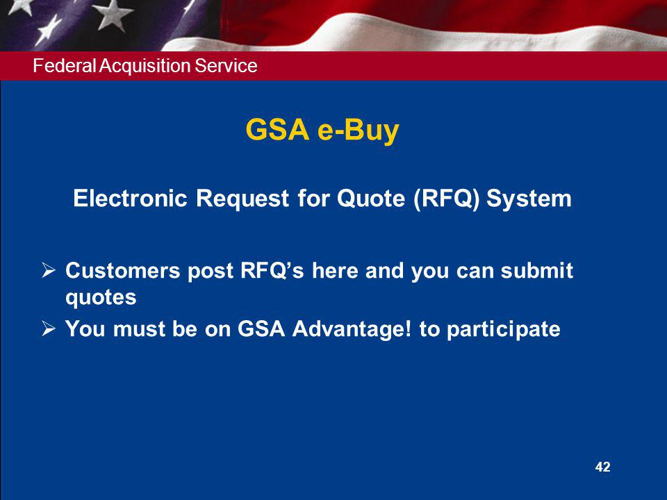 Electronic Request for Quote (RFQ) System