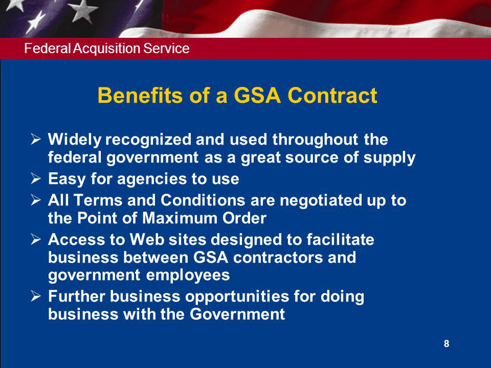 Benefits of a GSA Contract