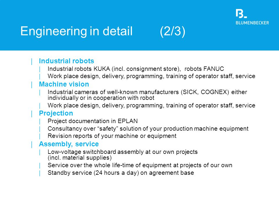 Engineering in detail (2/3)
