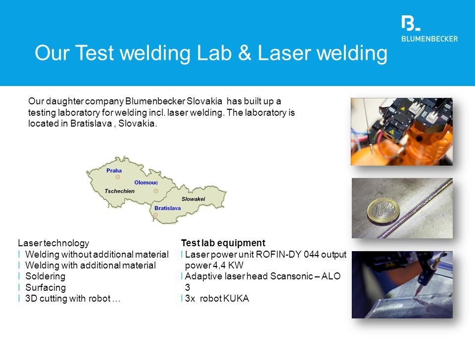 Our Test welding Lab & Laser welding
