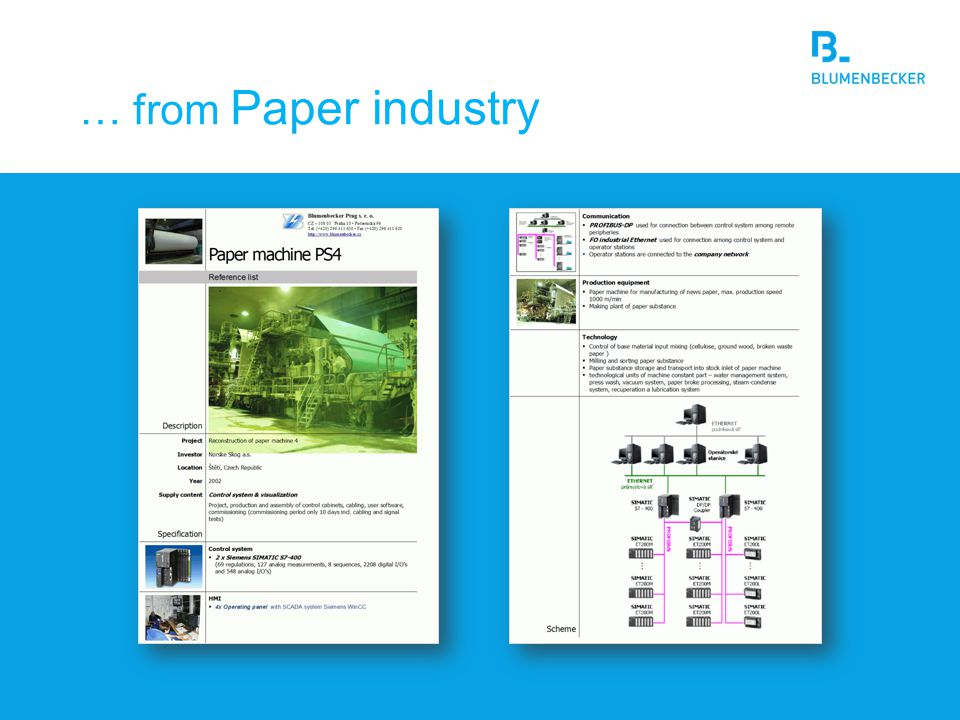 … from Paper industry