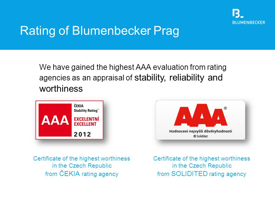 Rating of Blumenbecker Prag